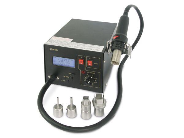 Heißluft-Lötstation mit LCD ZD-939L, 4 Wechseldüsen, B-Ware - Produktbild 2