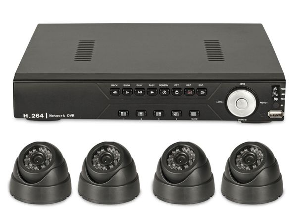 Überwachungssystem mit DVR und 4 Dome-Kameras, B-Ware - Produktbild 1