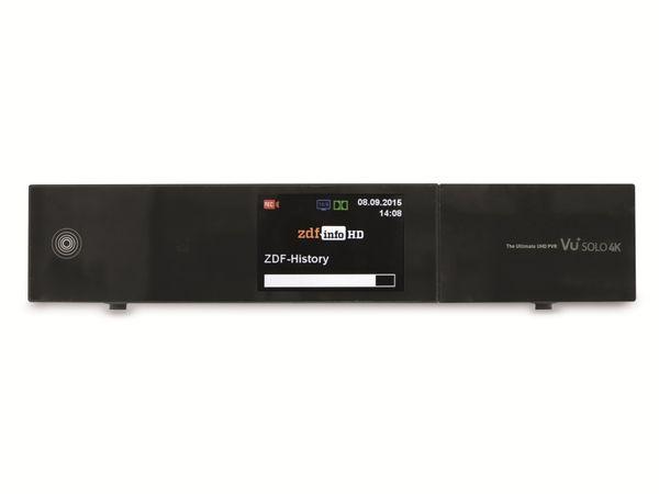 DVB-S HDTV-Receiver VU+ SOLO 4K, Linux, schwarz, B-Ware - Produktbild 1