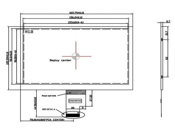 """7"""" (17,78 cm) Display-Set LS-7, HDMI/DVI/VGA/CVBS, B-Ware"""