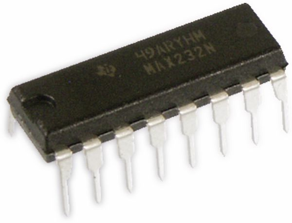 Pegelwandler MAX232N, DIP-16