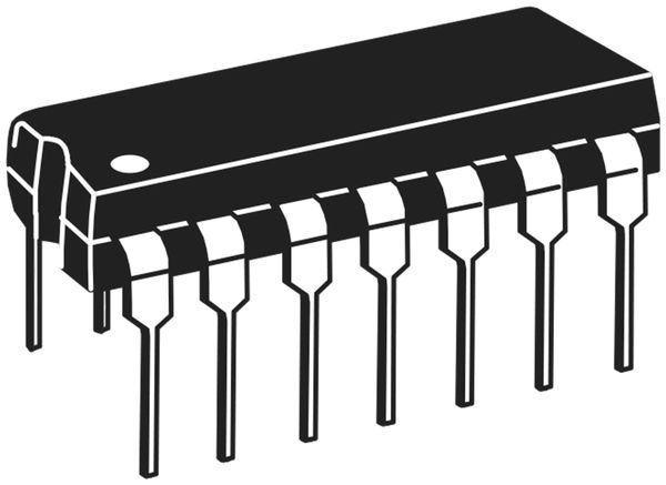 Quad 2Inp NAND S/T CD4093BE, TEXAS INSTRUMENTS