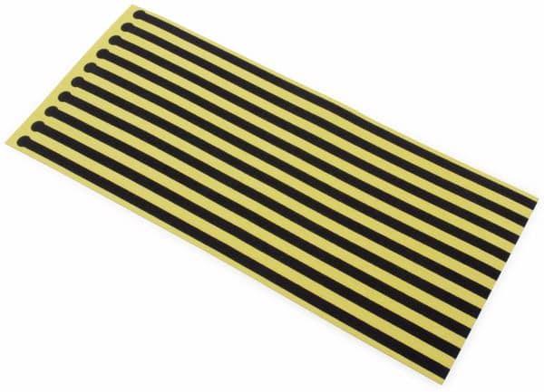 QUADRIOS, 1903EC041, ESD-Einweg-Schuherdungsstreif, Schwarz / Gelb, 10 ST - Produktbild 3