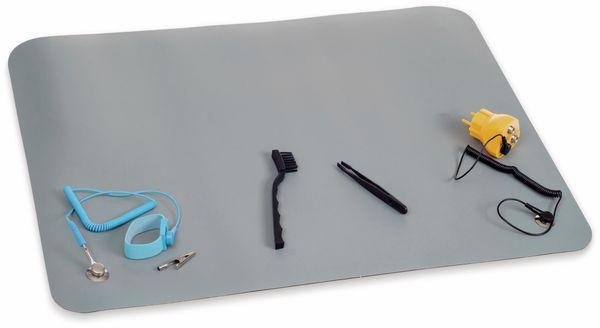 QUADRIOS, 2001EC002 , ESD-Arbeitsplatz-Komplettset, Grau, Druckknopf 10 mm, Premium-SET