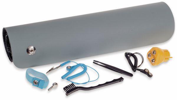 QUADRIOS, 2001EC002 , ESD-Arbeitsplatz-Komplettset, Grau, Druckknopf 10 mm, Premium-SET - Produktbild 2