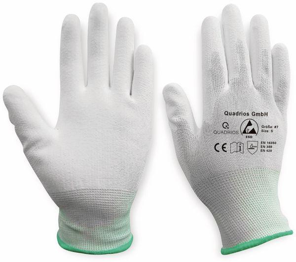 QUADRIOS, 1903EC065, ESD Handschuhe mit Beschichtung S - Produktbild 3