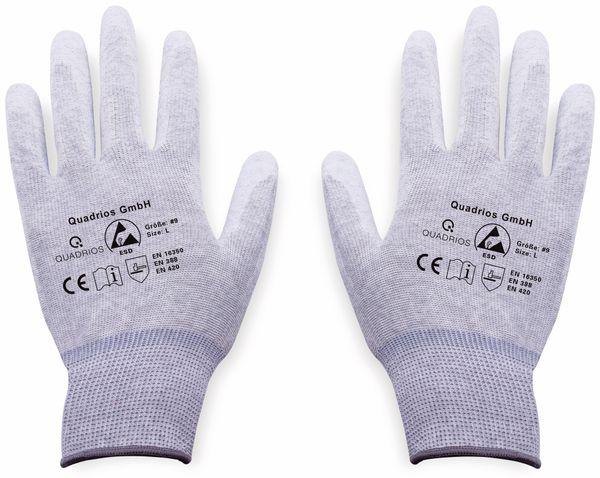 QUADRIOS, 1903EC067, ESD Handschuhe mit Beschichtung L - Produktbild 2