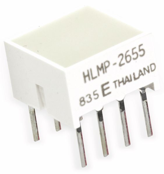 Flächen-LED HLMP-2655, 8,89x8,89 mm, rot - Produktbild 1