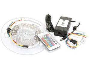 RGB LED-Strip, Länge 5 m, Komplett-Set - Produktbild 1