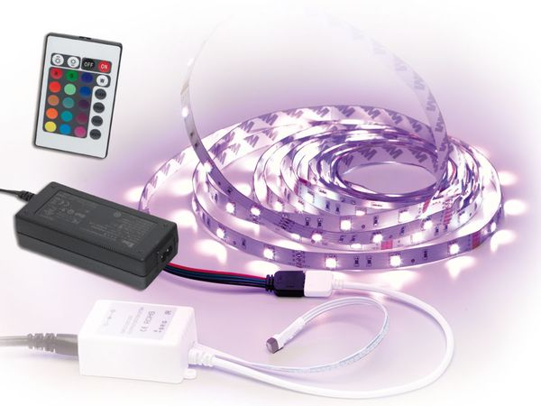 RGB LED-Strip Komplett-Set, 5 m - Produktbild 1