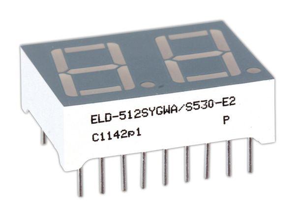 LED-Anzeige EVERLIGHT ELD-512SYGWA/S530-E2