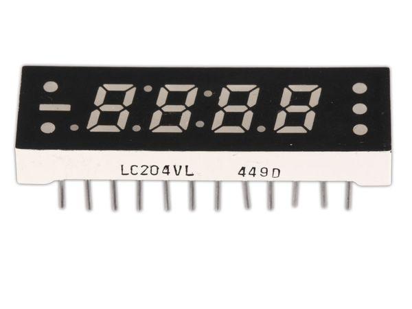 LED-Anzeige ROHM LC-204VL, 4-stellig, rot - Produktbild 2