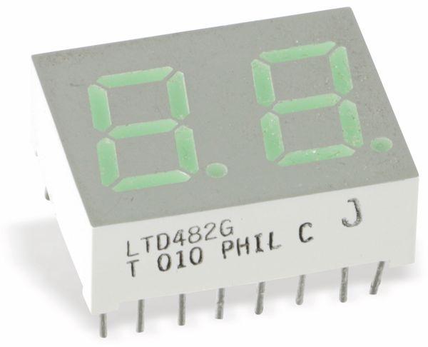 LED-Anzeige LITEON LTD-482G, 2-stellig, grün - Produktbild 1