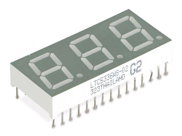 LED-Anzeige LITEON LTC5336WS-02, 3 Digit
