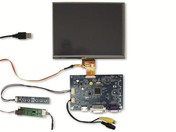 "20,3 cm (8"") Display-Set mit Touchscreen LS-8T, HDMI/DVI/VGA/CVBS"