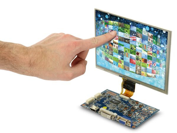 "20,3 cm (8"") Display-Set mit Touchscreen LS-8T, HDMI/DVI/VGA/CVBS - Produktbild 5"