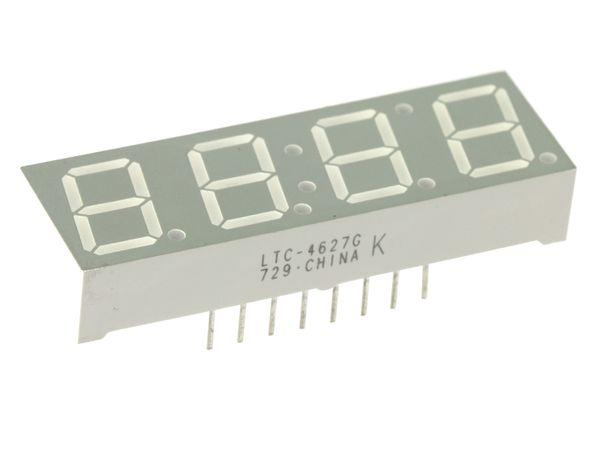 LED-Anzeige LITEON LTC-4627G, 4 Digit, grün - Produktbild 1