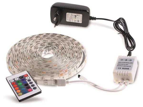 RGB LED-Strip-Komplettset ILUFA 168069, EEK: A, 150 LEDs, 5 m - Produktbild 1