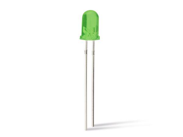 LEDs EVERSTAR ESL-R5044LPGD-R, grün, 5 mm, 10 Stück