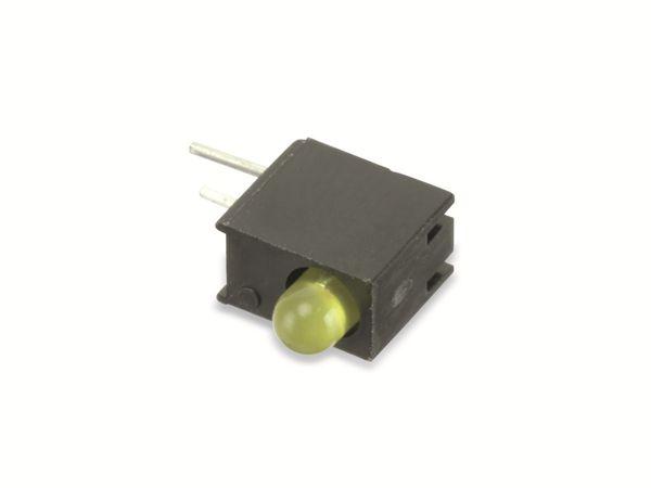 Gesockelte LED, 90°, gelb, 3 mm