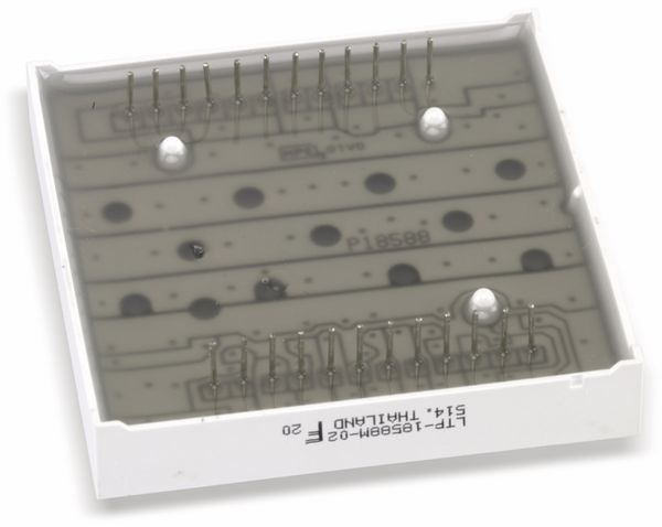 Dot-Matrix-Display LITEON LTP18588M-02, 8x8, rot/grün - Produktbild 2