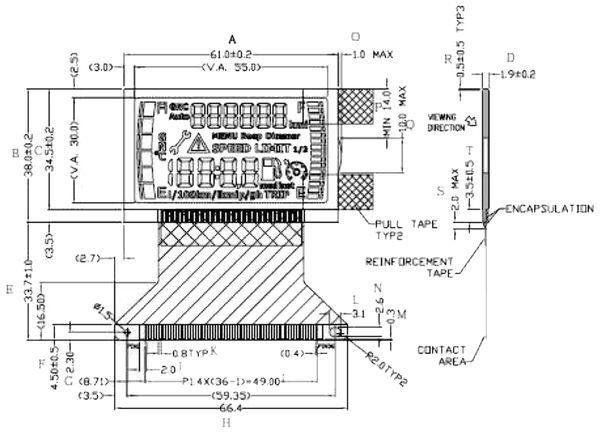 LCD-Modul VARITRONIX VLGEM1182-02 - Produktbild 4