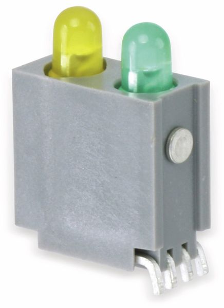 Gesockelte LED, 2-fach, grün/gelb, SMD, 90° - Produktbild 1