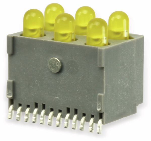 Gesockelte LED, 6-fach, gelb, SMD, 90° - Produktbild 1