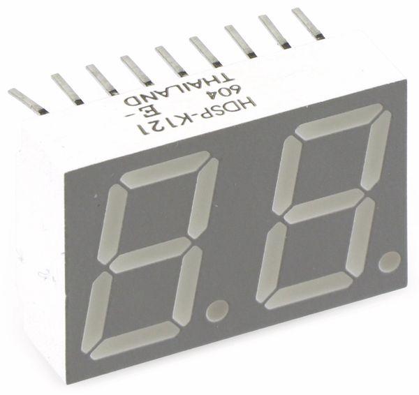 LED-Anzeige AVAGO HDSP-K121, 2 Digit, rot - Produktbild 1