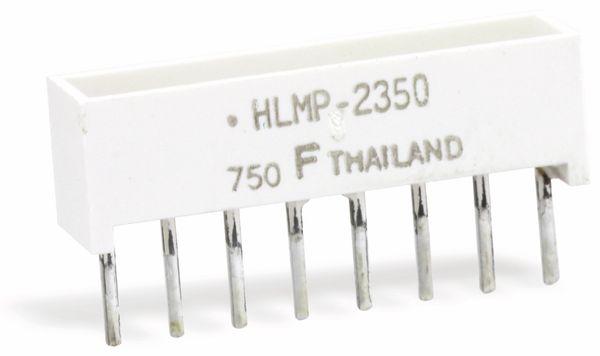 Flächen-LED HLMP-2350, 19,05x3,81 mm, rot - Produktbild 1