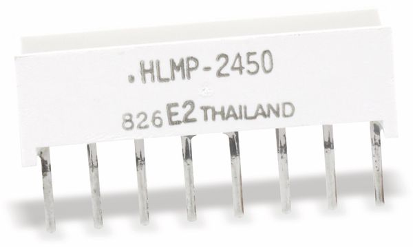 Flächen-LED HLMP-2450, 19,05x3,81 mm, gelb - Produktbild 1
