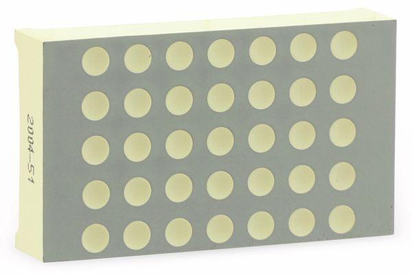 Dot-Matrix-Display KINGBRIGHT TA12-11EWA, 5x7, rot - Produktbild 1