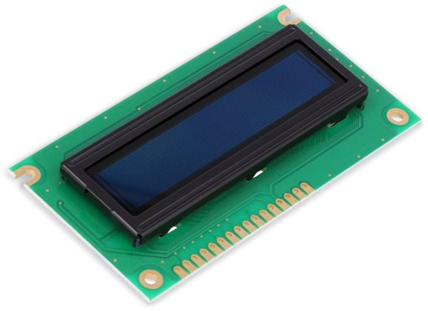 Display OLED, DEP16202-Y, 2x16, 84x44x6,4 mm, gelb