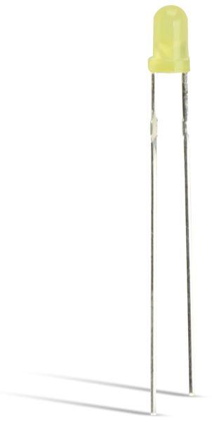 LED LITEON 3mm gelb diffus, low current, 1,1mcd