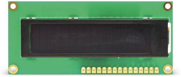 Display OLED, DEP16201-Y, 2x16, 80x36x10 mm, gelb
