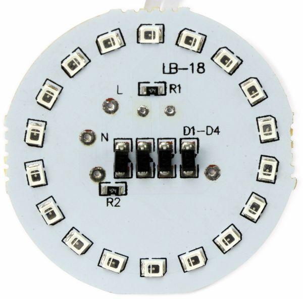 LED Modul mit 18 roten LED, Ø 54 mm auf Hartpapierträger