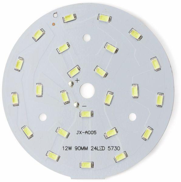 LED Modul mit 24 weißen LED, Ø 90 mm auf Aluträger, 12 W