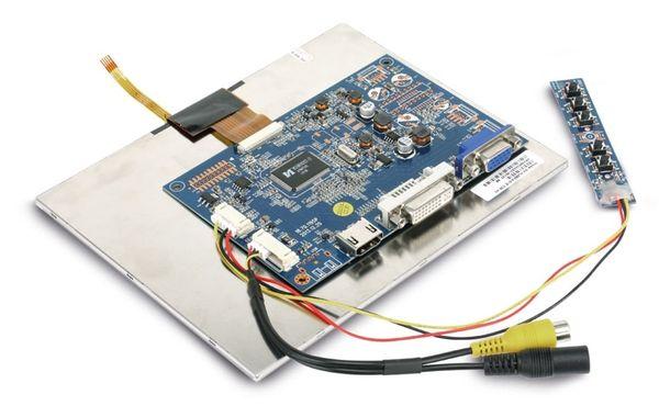 "LCD-SET LS-8T, 8"", 1024x768, Touch, HDMI/DVI/VGA/CVBS, 12V-, B-Ware - Produktbild 5"