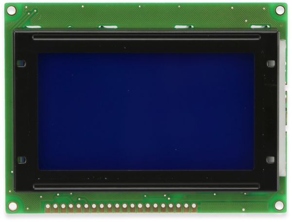 LC-Display, GSR Technology, GSR12864AVA23-BIW-R, 128x64 Pixel, blau
