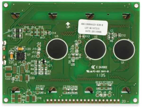 LC-Display, GSR Technology, GSR12864AVA23-BIW-R, 128x64 Pixel, blau - Produktbild 3
