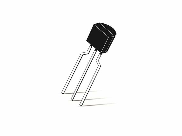 Transistor BC558B, PNP, 30 V, 0,1 A, TO92