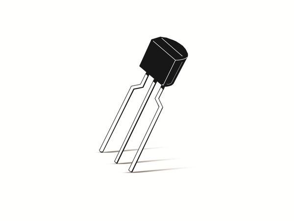 Transistor BC556B, PNP, 80 V, 0,1 A, TO92
