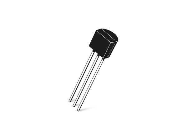 Transistor BC337-16, NPN, 45 V, 0,8 A, TO92