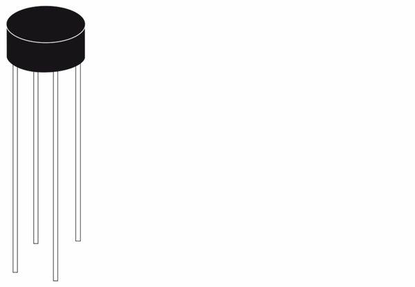 Brückengleichrichter 2W02G, 200 V / 1,5 A