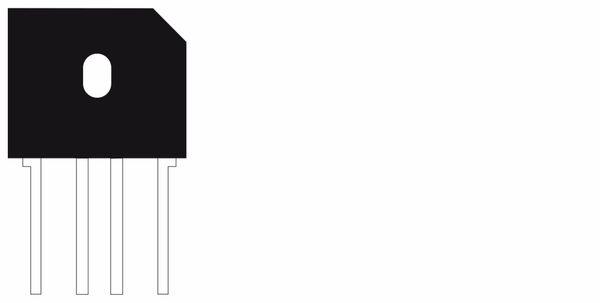 Brückengleichrichter GBU606, 600 V / 6 A