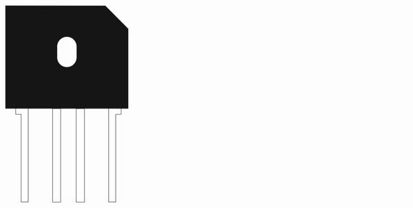Brückengleichrichter GBU802, 70 V~ / 8 A