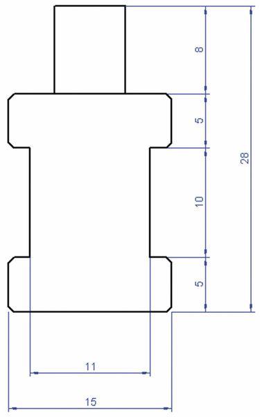 Rohr-Anlegefühler mit Sensor PT100, 3 m - Produktbild 2