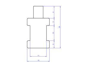 Rohr-Anlegefühler mit Sensor KTY81-210, 3 m - Produktbild 2