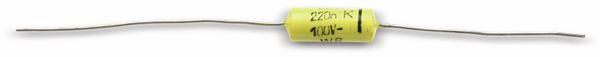 Folienkondensator REMIX C219, 220 nF, 100 V-, axial