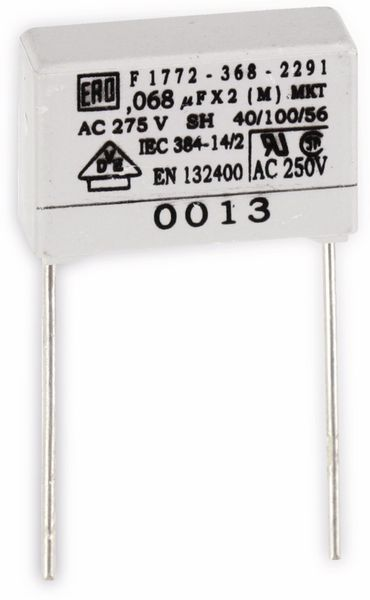 Entstörkondensator, 68 nF 275 V~
